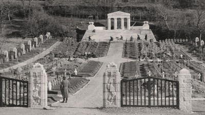 Austro-Hungarian military cemetery from World War I, Štanjel during the war