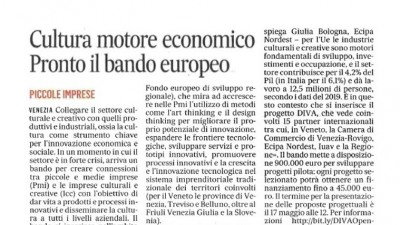 DIVA in newspaper Il Gazzettino